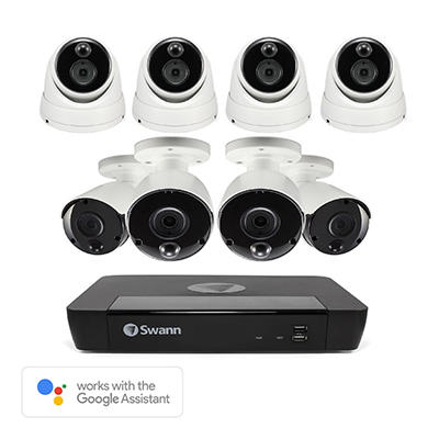Swann 8-Channel 8-Camera 4K Security System with 2TB HDD NVR