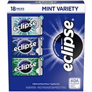 Eclipse Sugarfree Chewing Gum Variety Box, 18 pk.