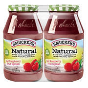 Smucker's Natural Red Raspberry Fruit Spread, 2 pk./30.75 oz.