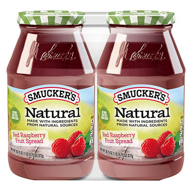 Smucker's Natural Red Raspberry Fruit Spread, 2 pk./30.75 oz.