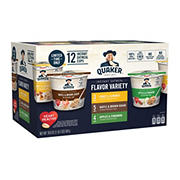 Quaker Instant Oatmeal Express Variety Cups, 12 ct.