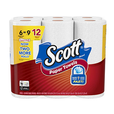 Scott Paper Towels Choose-A-Sheet with Quick Absorbing Ridges, 24 pk.