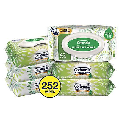 Cottonelle GentlePlus Flushable Wipes, 6 pk./42 ct.