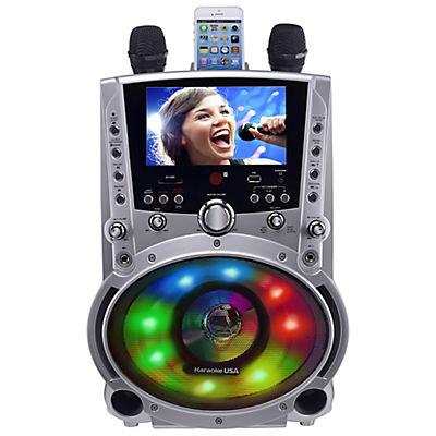 "Karaoke USA DVD/CDG/MP3G Bluetooth Karaoke Machine with 7"" TFT Color S"
