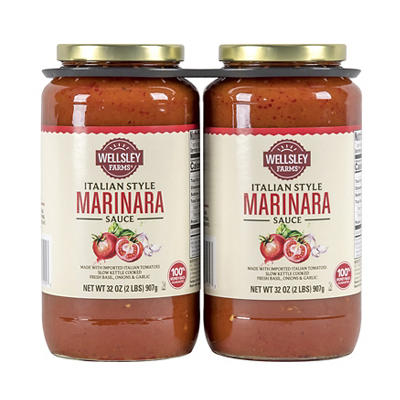 Wellsley Farms Italian Style Marinara Sauce, 32 oz.