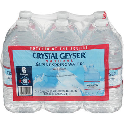Crystal Geyser Natural Alpine Spring Water, 6 pk./1 gallon
