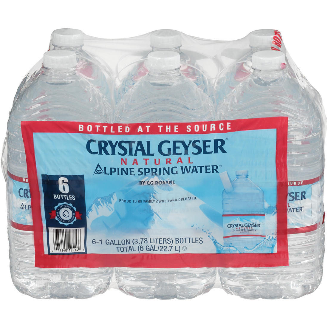 095ab793450e Crystal Geyser Natural Alpine Spring Water, 6 pk./1 gallon