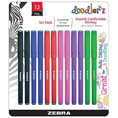 Zebra Doodler'z 1.0mm Fashion Gel Stick Pens, 12 ct. - Assorted