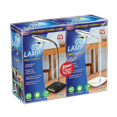 Go Lamp Ultra LED Lamp, 2 pk. - Black and White