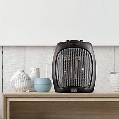 Black & Decker 1,500W Ceramic Heater with Manual Controls - Black