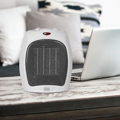 Black & Decker 1,500W Ceramic Heater with Manual Controls - white