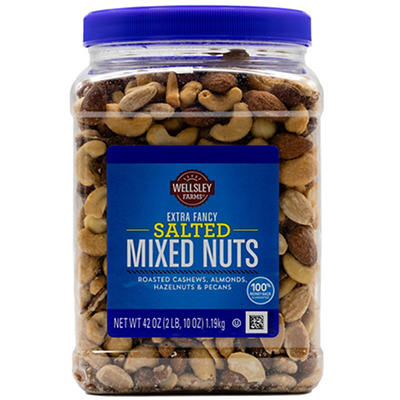 Wellsley Farms Extra Fancy Salted Mixed Nuts, 42 oz.