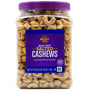 Wellsley Farms Whole Fancy Salted Roasted Whole Cashews, 42 oz.