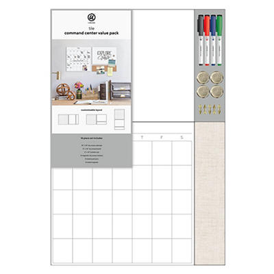Tile Command Center Value Pack with Linen Bulletin Strip