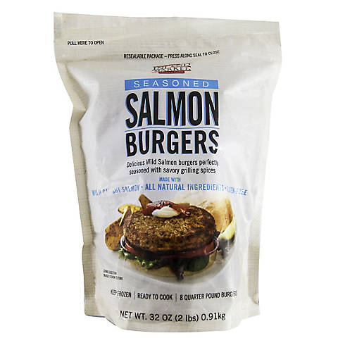 Inland Market Wild Salmon Burgers 8 Ct Bjs Wholesale Club