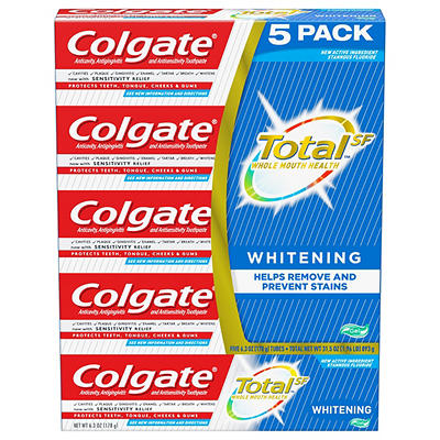 Colgate Total Whitening Toothpaste Gel, 5 pk./6.3 oz.