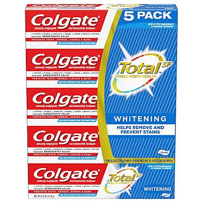 Colgate Total Whitening Toothpaste, 5 pk./6.3 oz.