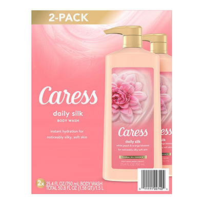 Caress Daily Silk Body Wash, 2 pk./25.4 oz.