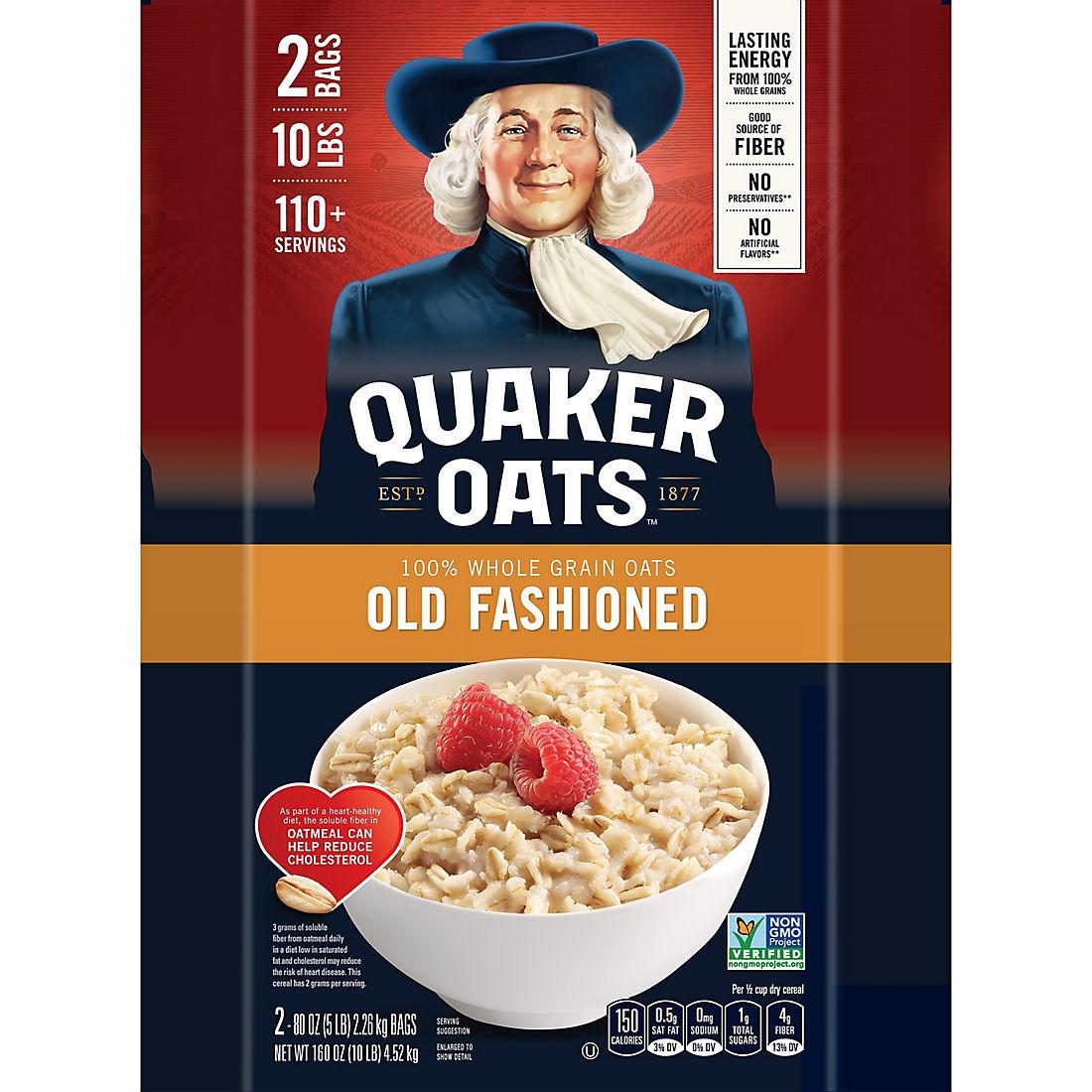 Quaker Oats Old Fashioned Oatmeal, 2 pk