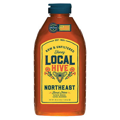 Local Hive Northeast Raw and Unfiltered Honey, 48 oz.