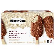 Haagen-Dazs Vanilla Milk Chocolate Almond Ice Cream Bars, 15 pk.
