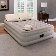 "Guest Essentials Queen 18"" Inflatable Bed Set with Air Mattress, Pump, Pillows, and Sheet Set"