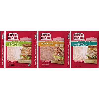 Hillshire Farm Farm Classics Sliced Lunchmeat Variety Pack, 3 pk./3 lb