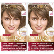L'Oreal Paris Excellence Creme Hair Color, Light Brown 6, 2 pk.
