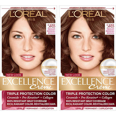 L'Oreal Paris Excellence Creme Hair Color, Medium Reddish Brown 5RB, 2
