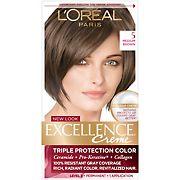 L'Oreal Paris Excellence Creme Hair Color, Medium Brown, 2 pk.