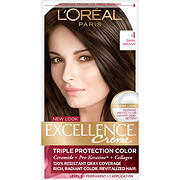 L'Oreal Paris Excellence Creme Hair Color, Dark Brown 4, 2 pk.