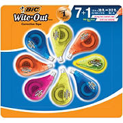 BIC Wite-Out EZ Correct Correction Tape, 7 ct. + 1 Bonus BIC Wite-Out Mini Correction Tape