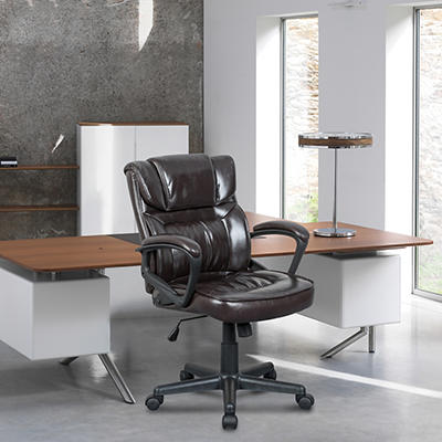Midback Manager Chair, Brown