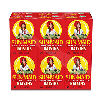 Sun-Maid Sun-Dried Raisin, 6 pk./1 oz.