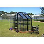 Riverstone Monticello 8' x 4' Patio Greenhouse with Bonus Maze Compost Tumbler