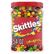 Skittles Original Fruity Candy Jar, 54 oz.