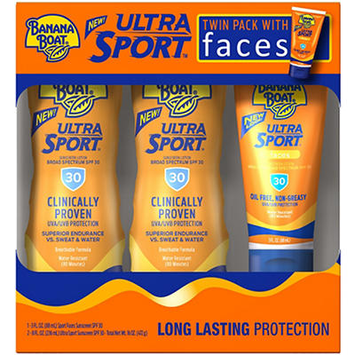 Banana Boat SPF 30 Twin Pack Sports Sunscreen Lotion, 2 pk./8 fl. oz.