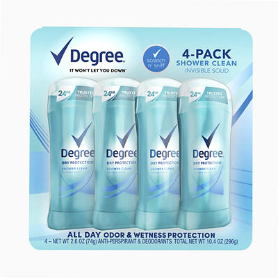 Degree Dry Protection Shower Clean Invisible Solid Anti-Perspirant, 4