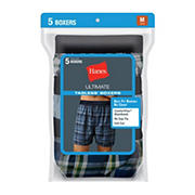 Hanes Large Woven Boxers, 5 pk.