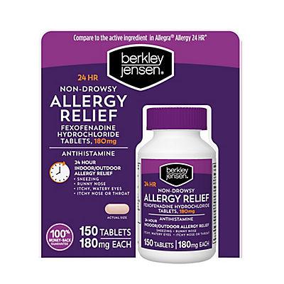 Berkley Jensen Non-Drowsy Allergy Relief Tablets, 150 ct.