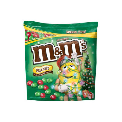M&M's Red and Green Stand-Up Bag, 51.5 oz.