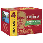 King Oscar Sardines in Extra Virgin Olive Oil, 4 pk./3.75 oz.