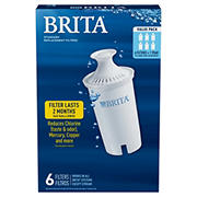Brita Pour-Through Pitcher Replacement Filter, 6 pk.