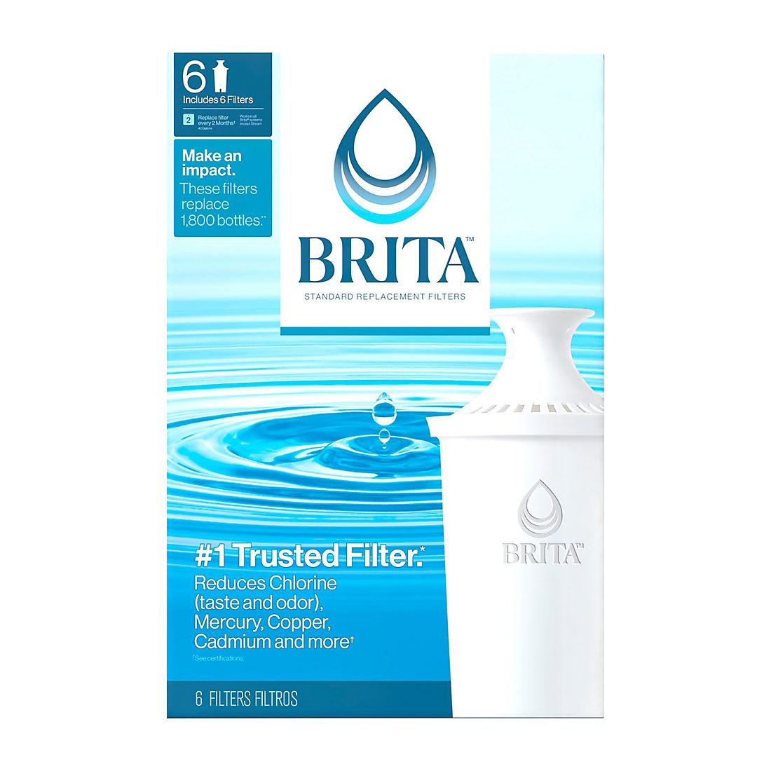 Brita Pour-Through Pitcher Replacement Filter, 6 pk