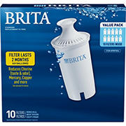Brita Pour-Through Pitcher Replacement Filter, 10 pk.