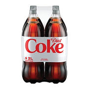 Diet Coke Soda, 4 pk./2L bottles