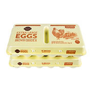 Wellsley Farms Extra Large Brown Eggs, 2 pk./18 ct.