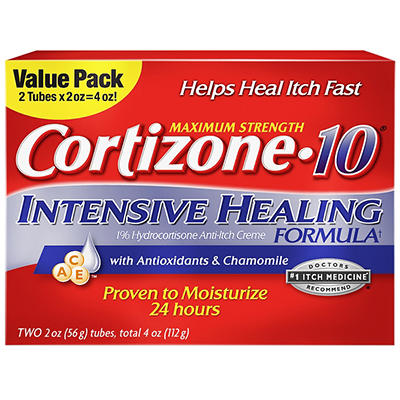Cortizone 10 Intensive Healing Cream, 2 pk./2 oz.