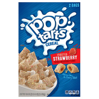 Kellogg's Pop-Tarts Frosted Strawberry Cereal, 2 pk./20 oz.