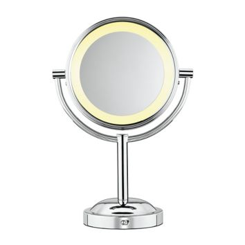 Bath New Pedestal Mirror With Holders Round Shaving Bathroom Makeup Cosmetics Mirror And Digestion Helping